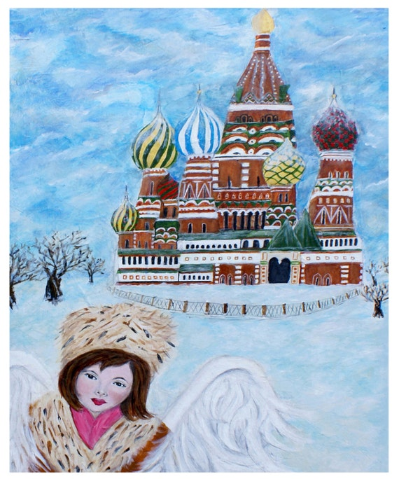 "Original Fine Art 8 x 10 print called ""Earth Angel Natasha from Russia"" by Charlotte Phillips"