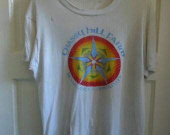 Vintage 70s/80s Crassy Hill Farm REN FAIRE Burnout T Shirt sz M