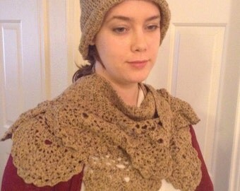 Cashmere scarf-shawl and hat