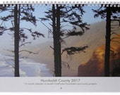 2017 Humboldt County Wall Calendar features plant-by-the-moon & 12-months of photos by community members supporting community FREE SHIPPING