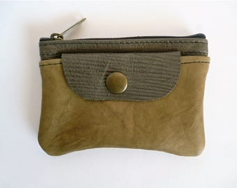 Leather Coin Purse, Small Leather Coin Purse, Zipper Coin Purse, Leather Small Pouch, Small Pouch, Credit Card Holder, Leather Accessory