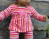 15 or 16 inch doll or Bitty Baby or Bitty twin outfit, soft velour top, pants and matching headband