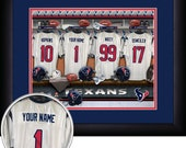 PERSONALIZED & FRAMED NFL Houston Texans Sports Prints