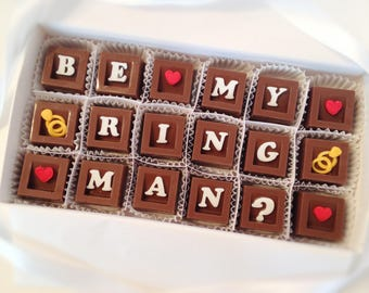 Ring Bearer Gift - Will You Be My Ring Bearer Chocolates - Wedding Party Attendant Gift