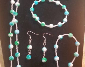 Teal Green Mix Jewelry Set