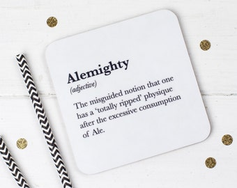 Funny Coaster - Ale Coaster - Stocking Filler - Gift For Friend