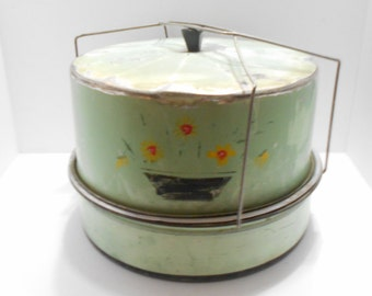Vintage Aluminum Double Decker, Cake & Pie Carrier