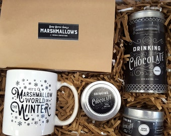 Hot Chocolate Variety and Marshmallows gift pack