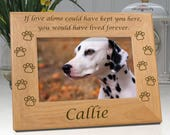 Dog Memorial Frame - If Love Alone - Personalized With Name - Choice of 4x6 or 5x7 Photo Frame - Free Sympathy Card & Fast Delivery
