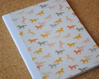 Watercolor Horses Notebook, Full Sized, Altered Composition Notebook