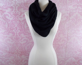 black turtleneck infinity scarf