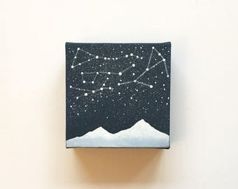 Star Chart III | Original Acrylic Painting | 4x4 Inches | By Janelle Anakotta