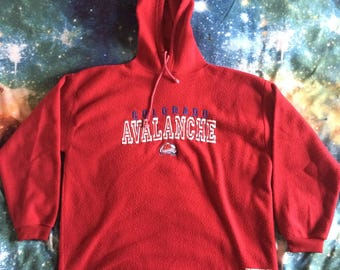 Vintage Colorado Avalanche Over Sized Hooded Sweatshirt (Maroon)
