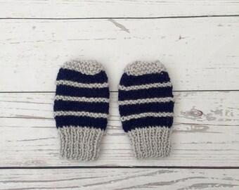 Knitted baby mittens | newborn mittens | baby boy mittens | baby gloves | baby mitts | knitted mittens