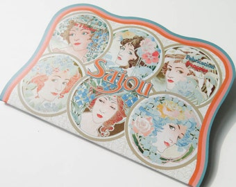 40 Embroidery Needles and Sewing Needles - Needlebook | Maison Sajou Needle book - Art Nouveau Ladies