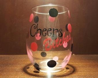 Personalized 21 oz Stemless Wine Glass