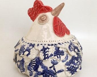 Chicken Ingrid the ceramic chicken home decor art