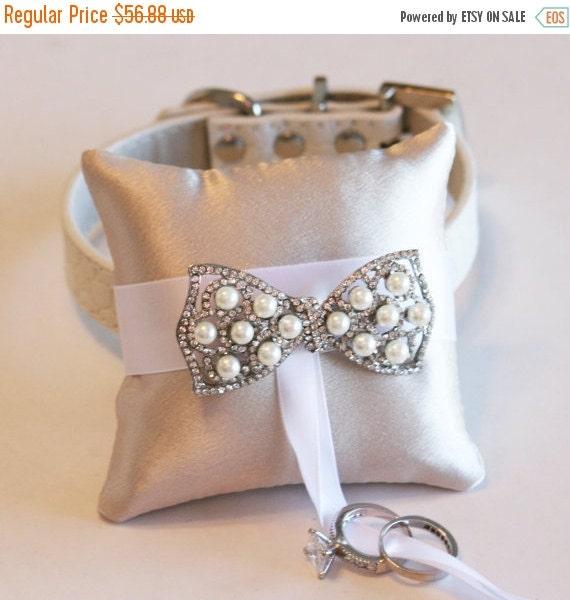 Ivory ring pillow dog ring bearer ring pillow attach by for Dog wedding ring bearer pillow