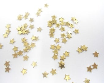 36 Vintage Brass Holiday Stars