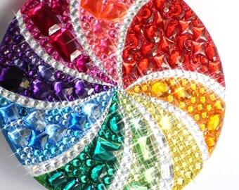 RESERVED FOR ASHLEY Fake Lollipop extra large Sparkling Gem Rainbow Photo Prop Decoration