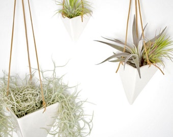 Hanging Pyramid Planter Modern Mid Century Home Decor MADE TO ORDER