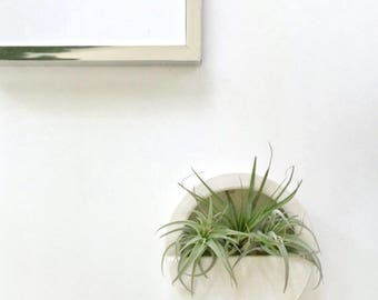 Round Capsule Wall Hanging Planter Vertical Garden Modern Mid Century Home Decor MADE TO ORDER
