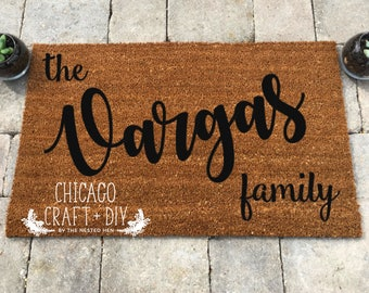 Last Name Doormat - Made To Order - The XYZ Family