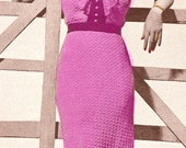 Almost FREE Vintage 1930s Chic Cotton Lace Dress with Jabot 173 PDF Digital Crochet Pattern