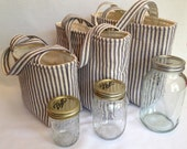 Quart 2-jar bags and drawstring bags