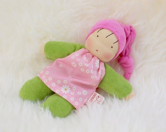 Gitti, waldorf inspired doll, cuddle doll, Babies first friend, natural toy