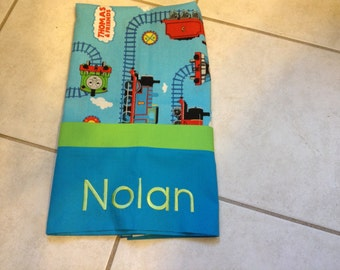 Thomas the train,Thomas the Tank,pillowcase with Monogram,Personalized pillowcases,Gifts for any age.1