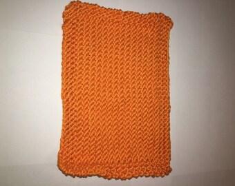 Orange Dish Cloth - Knitted Dish Cloth - Orange Wash Cloth - Knitted Wash Cloth