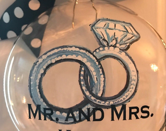 Wedding Ornament, Christmas Ornament, Engagement Ornament, Wedding Gift, Gifts for the Couple, Ornament