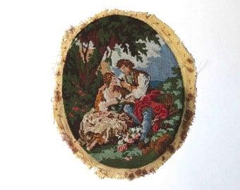 old canevas- old tapestry- Fragonard - needlepoint
