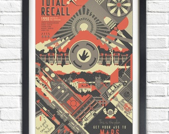 Total Recall - 1990 - 19x13 Poster
