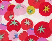 Alexander Henry Fabrics, You Say Tomato, Colorful Tomatoes in Natural