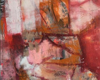Large Red Abstract Art/Painting