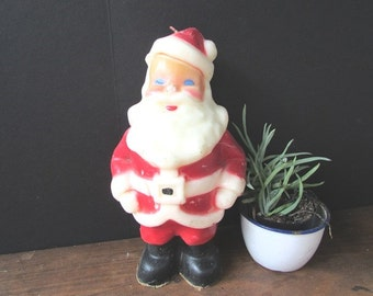 Gurley Santa Candle Vintage Christmas Candle