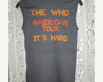 35% OFF Vintage The Who 1980 Tour Concert Tasco Staff T-shirt