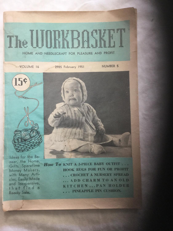 Vintage February 1951 The Workbasket Magazine from Frankorasfinds on ...