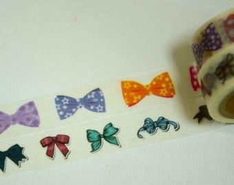 2 Roll Japanese Washi Masking Paper Tape: Bow-tie Ribbon