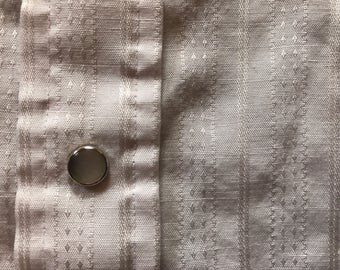 Vintage Mesquite Western Pearl Snap White Striped Shirt Men's S Small