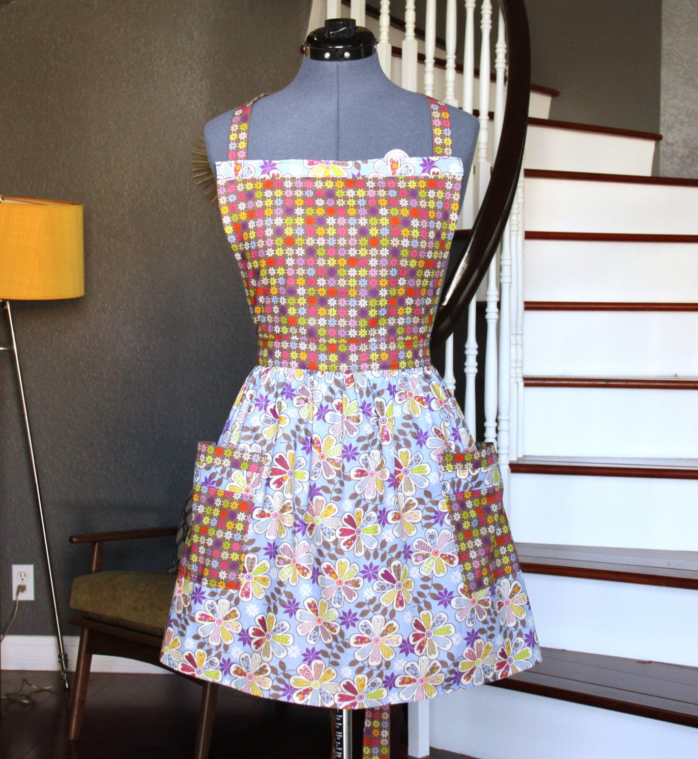 retro aprons for women apron with pockets women aprons blue. Black Bedroom Furniture Sets. Home Design Ideas