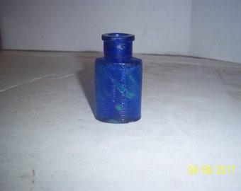 1890's 2 3/4 inch John  Wyeth & CO Phila Cobalt Blue Medicine Bottle