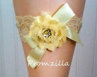 Yellow Prom Garter/ Lace Garter/ Wedding Garter/  Prom Garter Belt/ Prom 2017/Yellow Lace Garter / Prom Garters