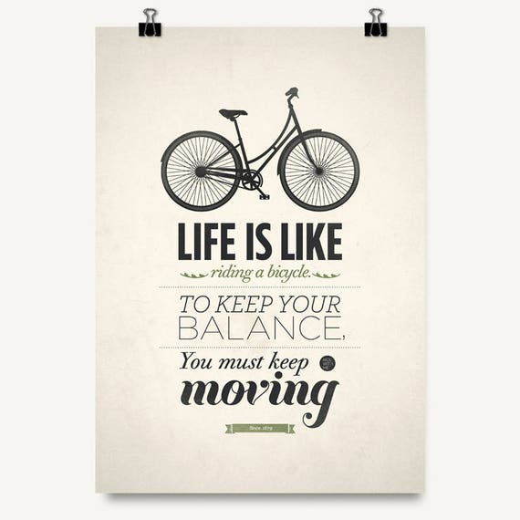 Art Quotes About Life Gorgeous Art Quote Print Albert Einstein Quote Life Is Like Riding A