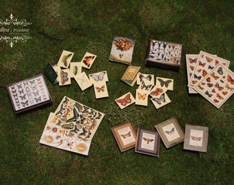 Digital downloads dollhouse miniature butterflies set - 29 pieces