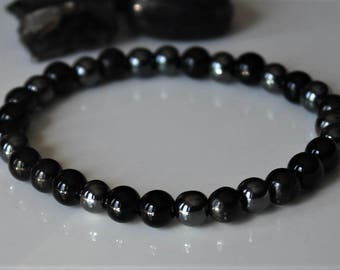 EMF Protection Bracelet, Healing Crystal Bracelet, Protection Stones, Protection Jewelry, Shungite Bracelet
