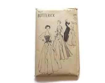 BUTTERICK Evening DRESS PATTERN, 1940s...#4524