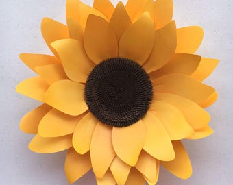 DIY Sunflower, Paper Flower Template for Silhouette or Cricut Explore (SVG, DXF)